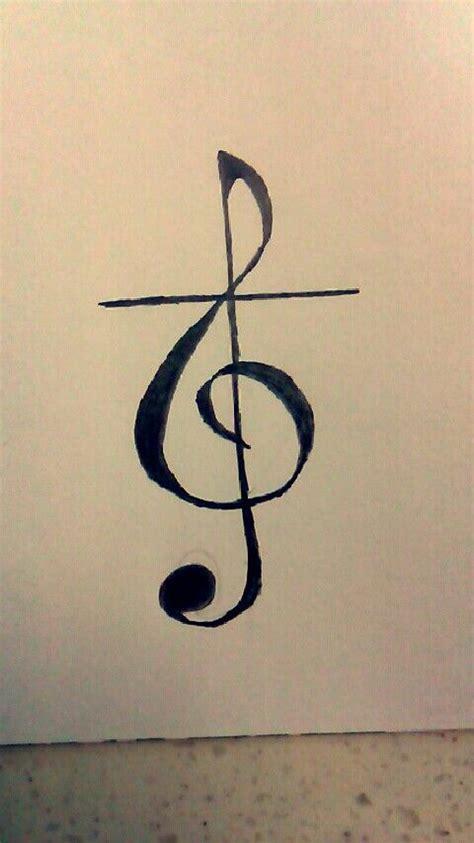 music cross tattoo treble clef cross tattoos tattoos