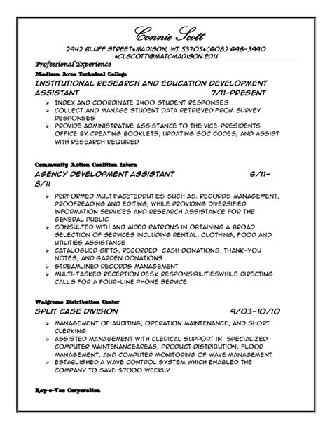 Professional Resume Exles Management by Professional Profile On A Resume