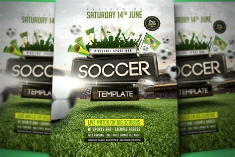 soccer flyer template made with love