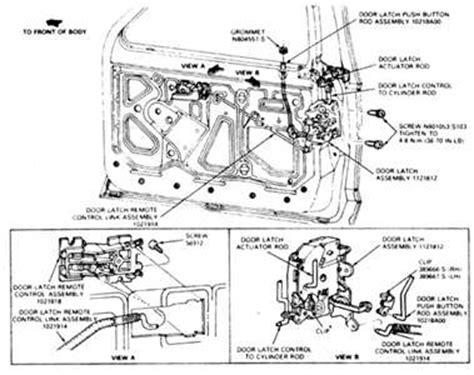Door Lock Diagram For A Ford Ranger Fixya