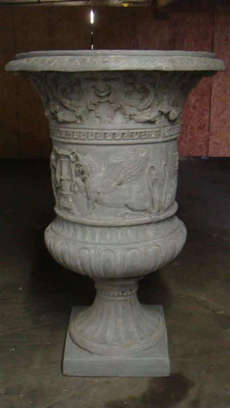 fiberglass majestic urn garden planter statue