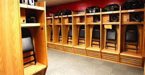 wood lockers recruiter open front athletic lockers art
