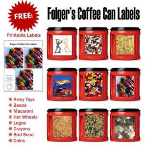 Plastic Kitchen Canisters free folger s coffee can labels heart of wisdom