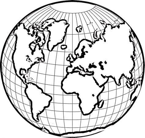 simple world map coloring page world globe coloring page education simple world map
