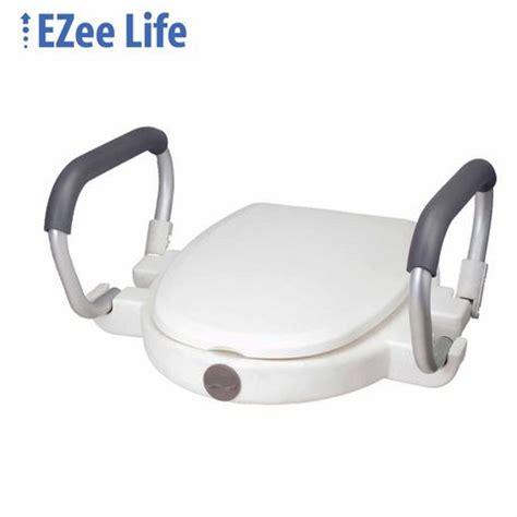 ezee life  raised toilet seat  lid  flip