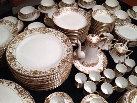 vintage china patterns antique noritake quot m quot gold china set 138