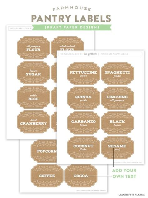 Custom Pantry Labels by Texts Kitchens And Labels Free On