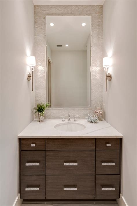 beach style bathroom mirrors metal building homes with vanity powder room beach style