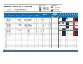 Vacation Planner Template by Employee Attendance Calendar And Vacation Planner