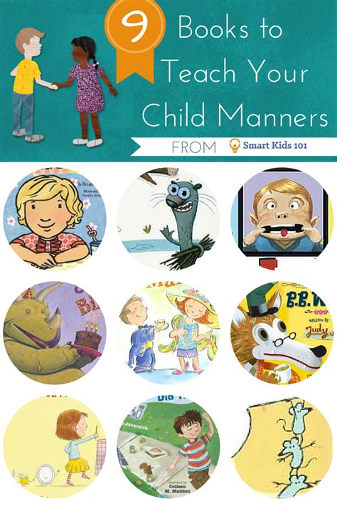 is the smart kid yours books 9 books to teach your child manners smart 101