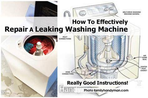 how to repair a leaking washing machine shut valve