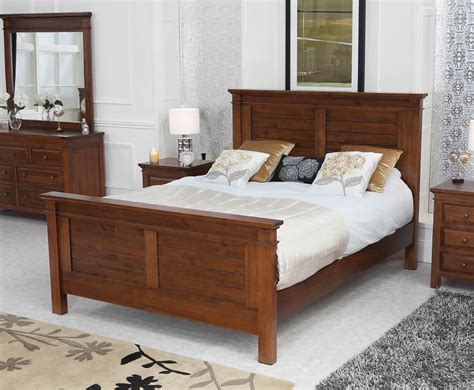 conway dark reclaimed pine bed frame