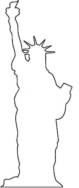 statue of liberty drawing template kindergarten drawing of the statue of liberty new