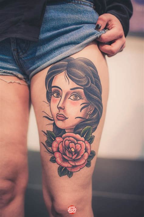 tattoos for girls on thigh 50 thigh tattoos for