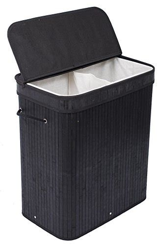 black laundry with lid birdrock home laundry her with lid and cloth liner bamboo black ebay