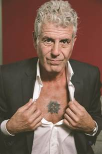 Urban Style Tattoos - yes anthony bourdain really is that cool a close encounter with a food rock star chest baring