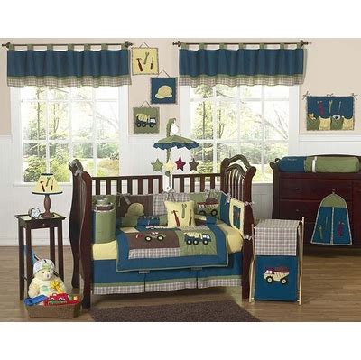 construction crib bedding construction crib bedding collection