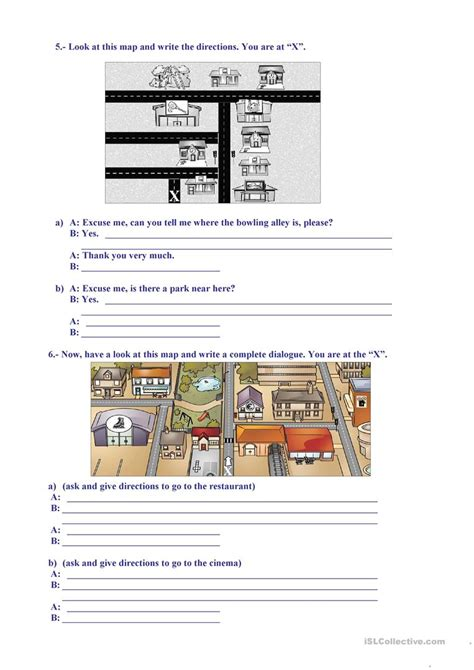 print driving directions in spanish telling direction worksheet the best and most