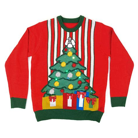 the night before lighted christmas sweater cheesy