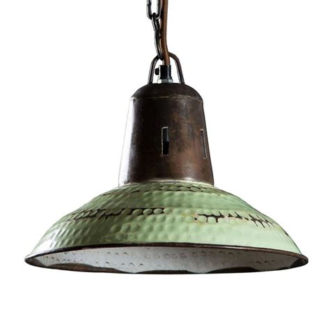 Saucer Pendant Light Distressed Saucer Pendant In Vintage Green Dotandbo