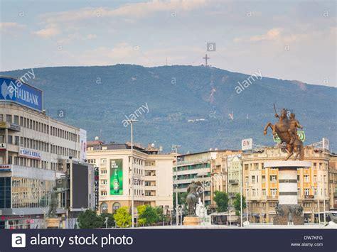 skopje jugoslawien macedonia skopje the great stockfotos