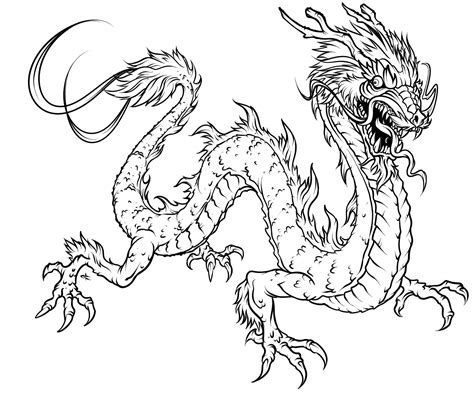 free dragon adult coloring pages