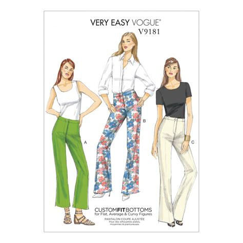 bootcut jeans sewing pattern vogue ladies easy sewing pattern 9181 custom fit bootcut