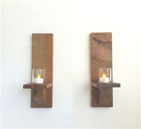 buy a made rustic wood wall sconces candle sconces