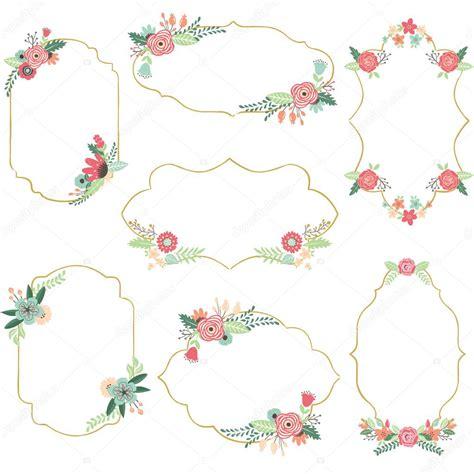 cornici di fiori cornici di fiori vintage vettoriali stock 169 jason lsy