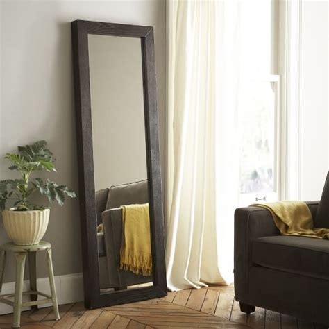 Floor Mirror West Elm by Parsons Floor Mirror Chocolate Stained Veneer West Elm