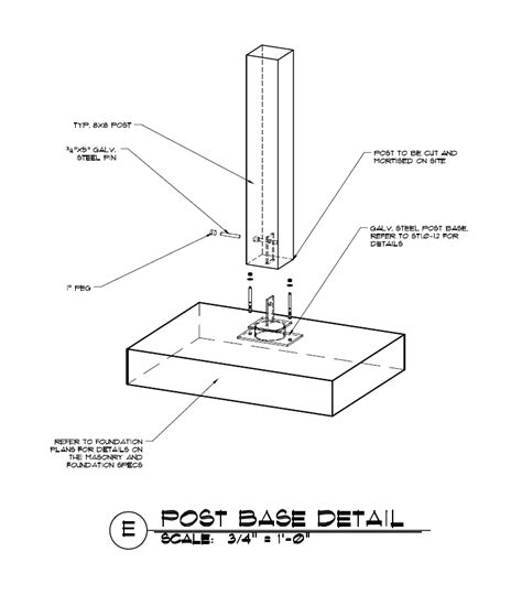 timber frame design details timber to concrete detail using a steel knife plate and