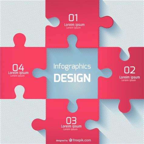 puzzle pattern ai red puzzle pieces vector free download