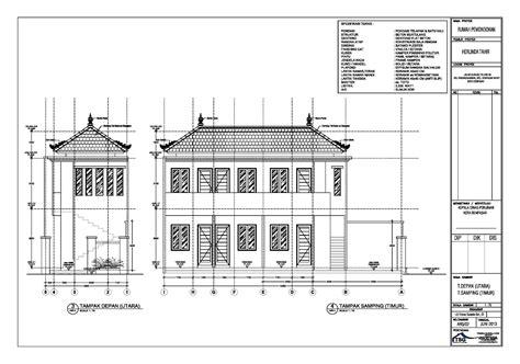desain gapura cad desain rumah kost bertingkat info bisnis properti foto