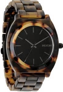 Time Teller by Nixon Time Teller Acetate Tortoise Free Shipping