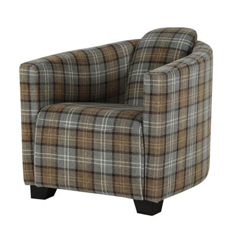 Tartan Occasional Chair Tartan Tub Chair Occasional Accent Chair Curiosity