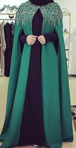 Gamis Abaya Syari Bangkok Stabilo emerald cape overcoat a bisht affair emeralds cape and abayas