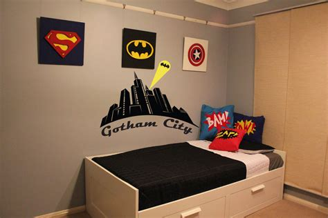 batman bedroom decor minimalist boys bedroom interior decoration with