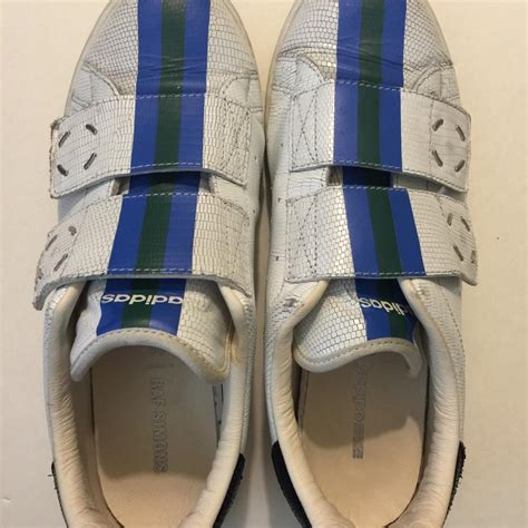raf simons tennis shoes adidas by raf simons x stan smith rs sneakers white blue stripe athletic shoes on sale 48