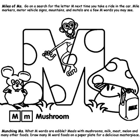 crayola coloring pages letters alphabet m coloring page crayola com