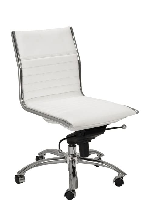 white leather armless office chair white leather desk chairs choose the best