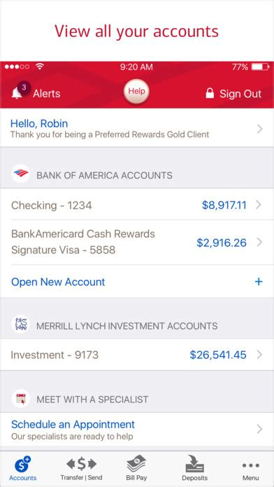 reset online id bank of america bank of america mobile banking on the app store