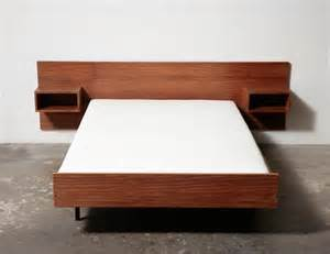 Simple Twin Bed Frame Mid Century Danish Teak Bed With Night Stands Amsterdam