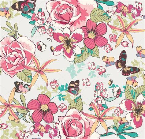 vintage floral pattern vector background fondo de vector vintage flor vector de stock 169 salomenj