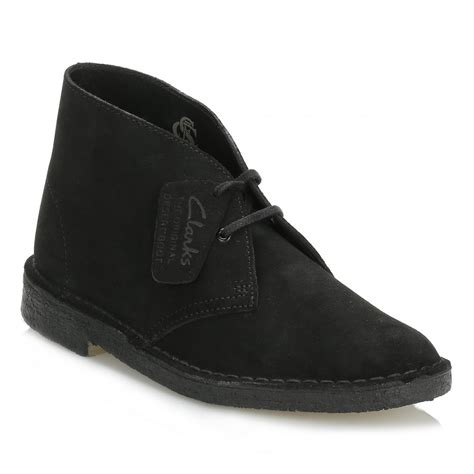 clarks desert boot black suede ankle boots clarks