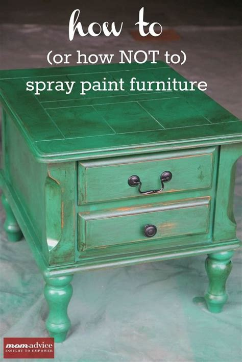 spray paint bedroom furniture how to spray paint furniture momadvice