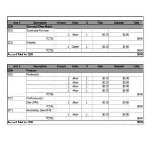 9 film movie budget templates free sample example