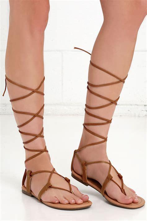 sandals that go up your leg brown sandals leg wrap sandals flat sandals 17 00