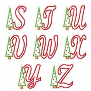 christmas tree applique font