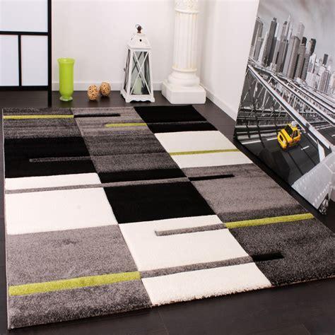 www teppich de designer teppich mit konturenschnitt karo muster gr 252 n grau