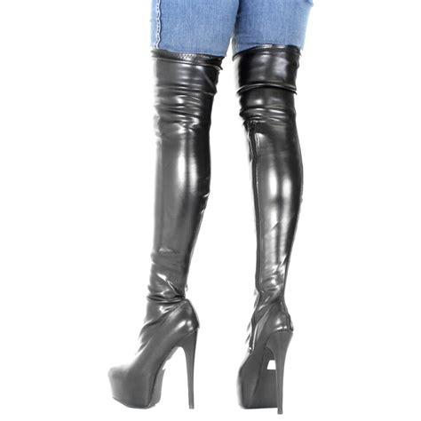 thigh high knee platform heel stiletto